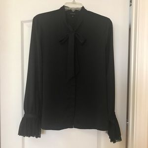 Who What Wear black long sleeve top